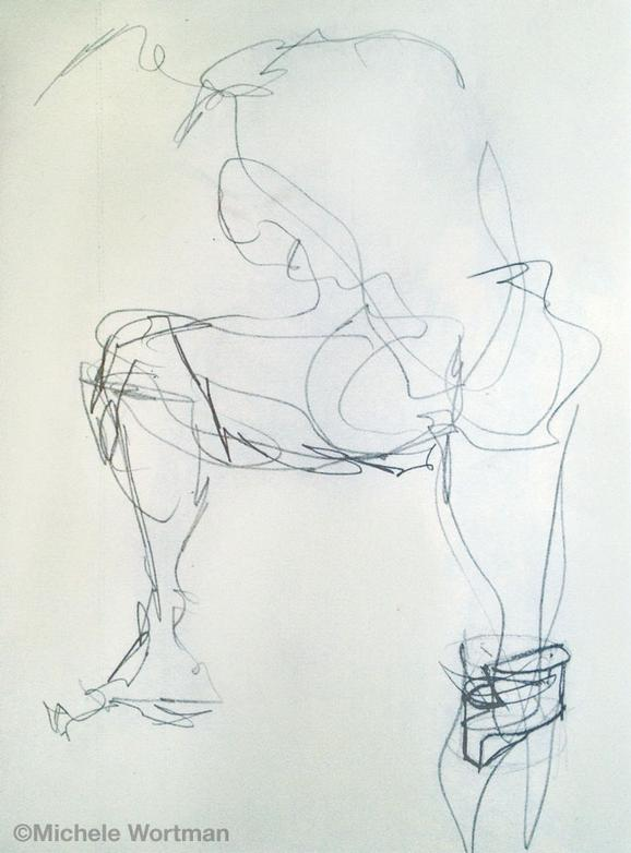 Michele Wortman - SAIC 1989 first drawing