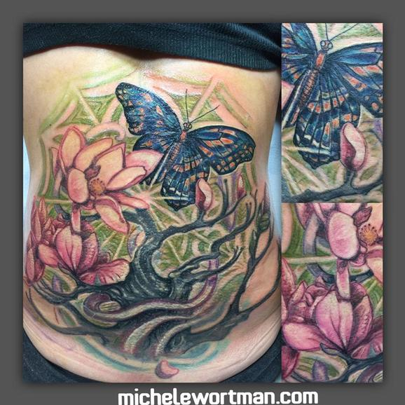 Michele Wortman - Cycles of Life (coverup)