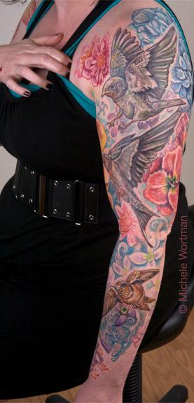 Michele Wortman - Barn swallow family