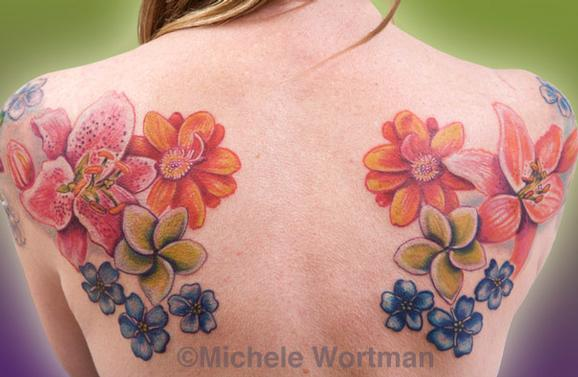 Michele Wortman - Floral back set