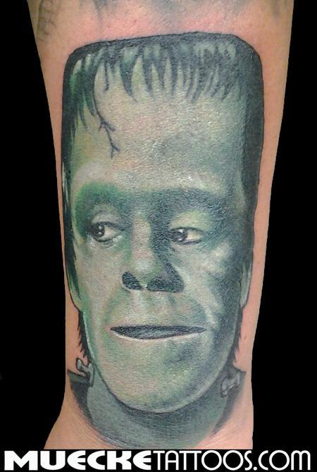 Tattoos - Munsters Portrait Herman Munster Tattoo - 70805