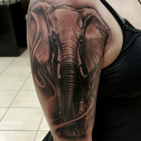 Tattoos - elefant  - 128186