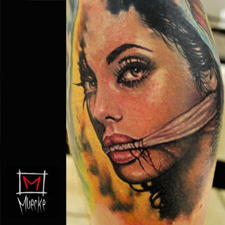 Tattoos - Muecke Custom Color Portrait Tattoo - 86305