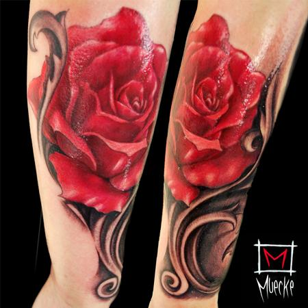 George Muecke - Rose filigree tattoo Muecke art