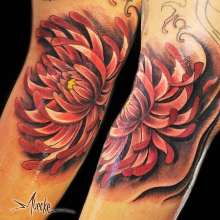 Tattoos - Muecke Flower Tattoo - 91450