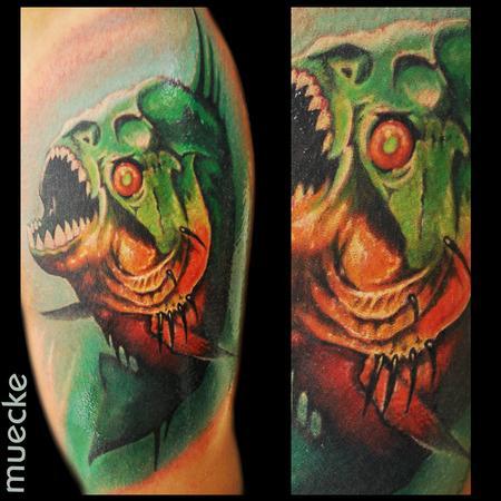 Tattoos - Piranha Tattoo - 86210