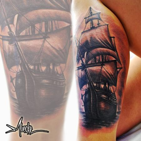 Tattoos - Muecke Ship tattoo  - 91217