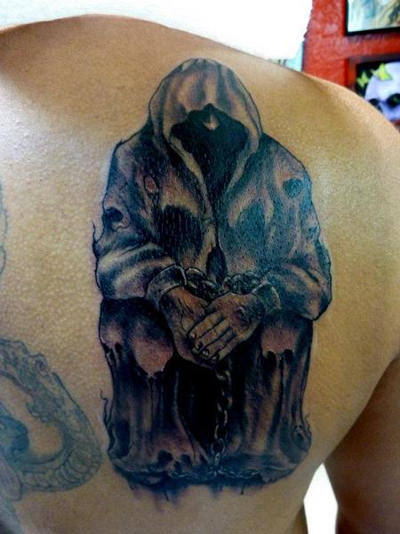Tattoos - hooded figure - 64078