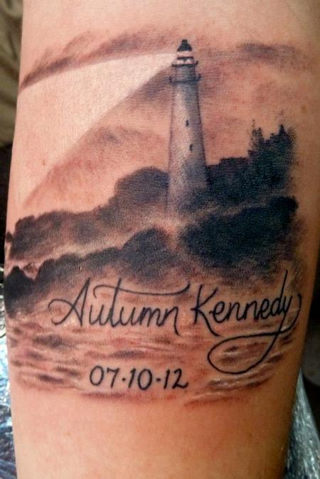 Tattoos - realistic Maine lighthouse - 75626