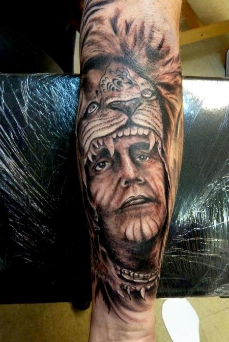 Tattoos - Indian chief - 64108