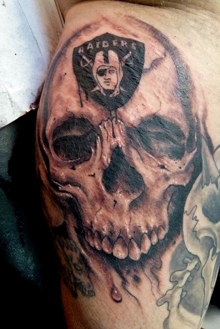 Tattoos - Raiders Skull - 68937