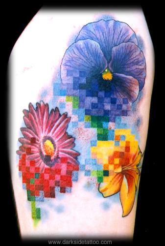 Nick Baxter - Monicas pixel flowers