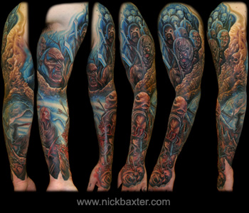 Nick Baxter - Orc Battle Sleeve LOTR OMG LOL
