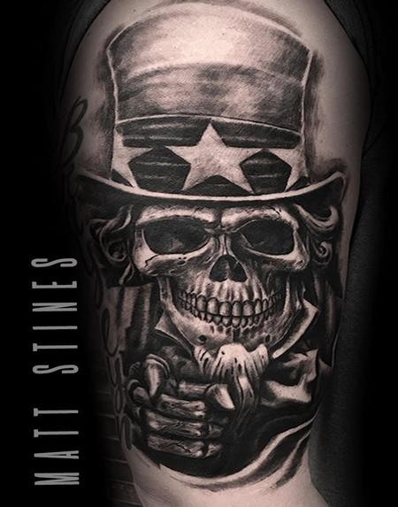 Matt Stines - Uncle sam skull