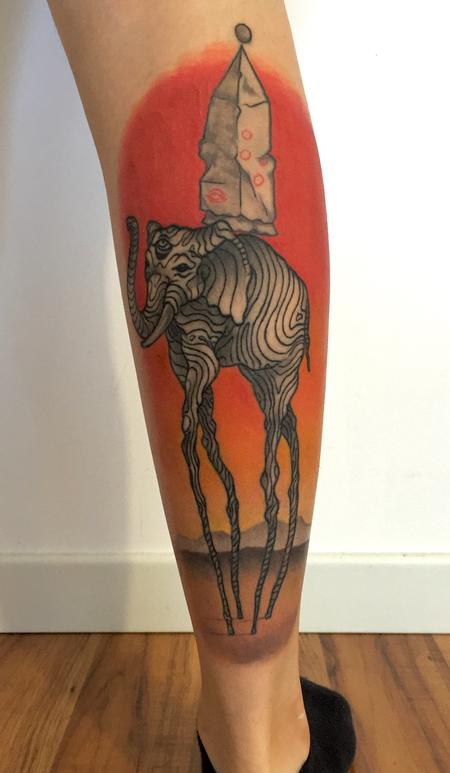 Tattoos - Dali's elephant revised - 120556