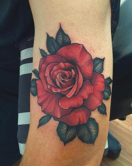 Tattoos - red rose  - 121996