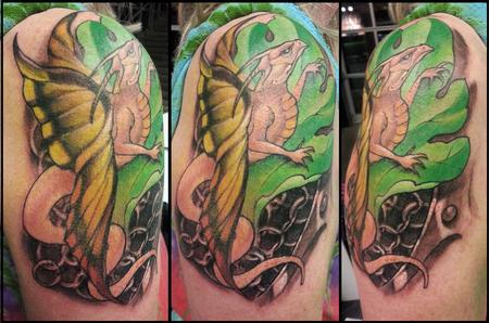Tattoos - Butterfly Dragon - 128552