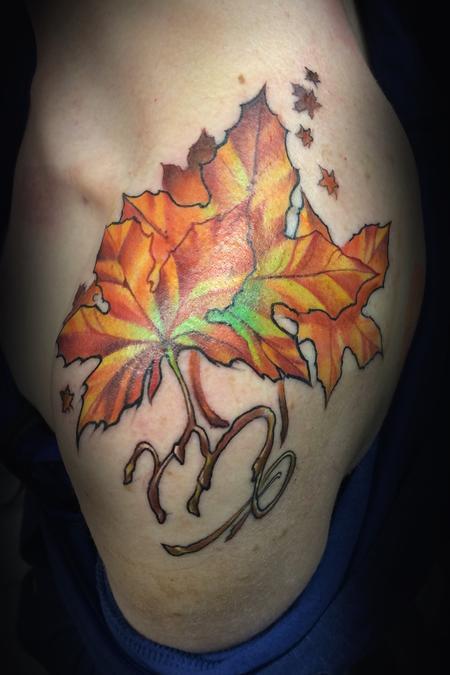 Tattoos - Autumn Leaves - 128543