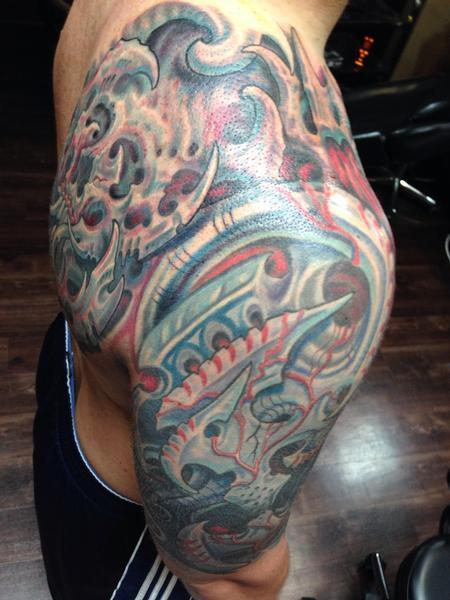 Tattoos - Biomech cover up - 99427