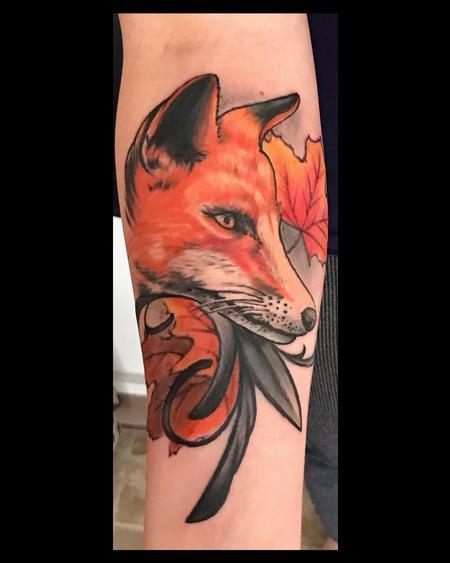 Tattoos - Fresh Fall Fox - 142912