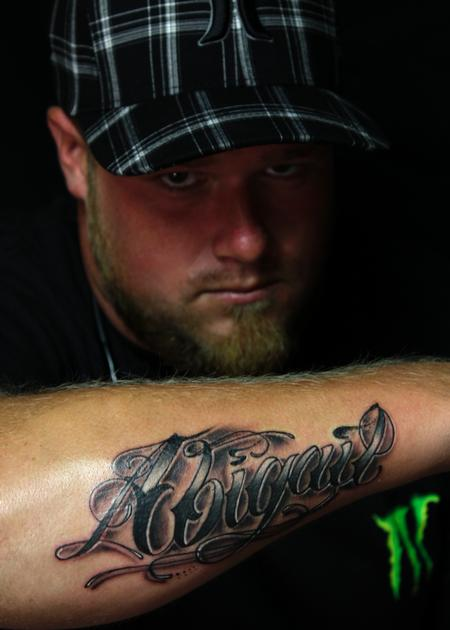 Tattoos - Daughters name. - 77217