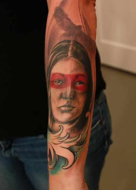 Steve Phipps : Tattoos : Body Part Arm : Apache Woman