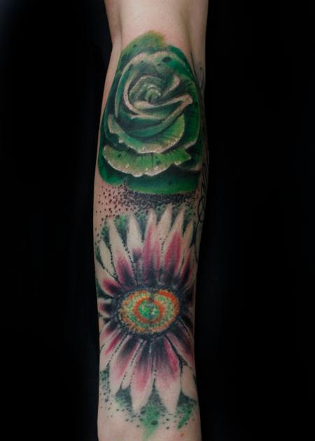 Tattoos - Flower Sleeve Progression - 134700