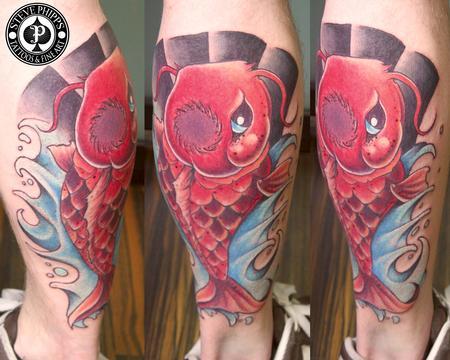 Tattoos - Freehand Koi - 77229