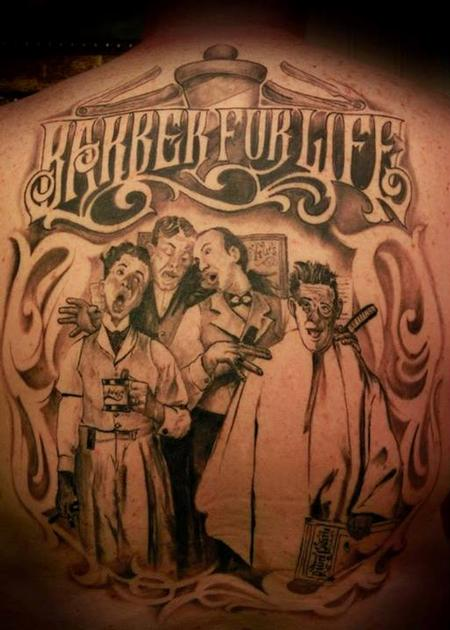 Tattoos - Barber For Life - 76921