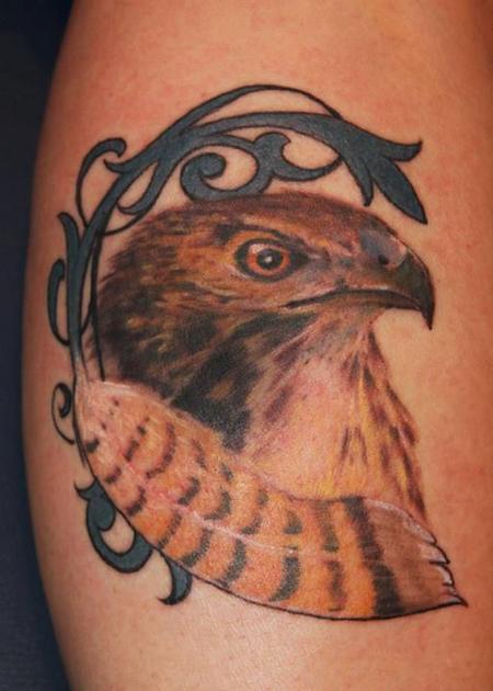 Tattoos - Hawk - 76920