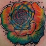 Tattoos - Tie Dye Rose - 141505