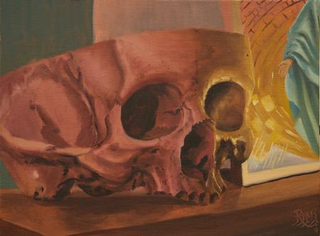 Rafael Marte - Skull and Saint midnight oil study 4/2020