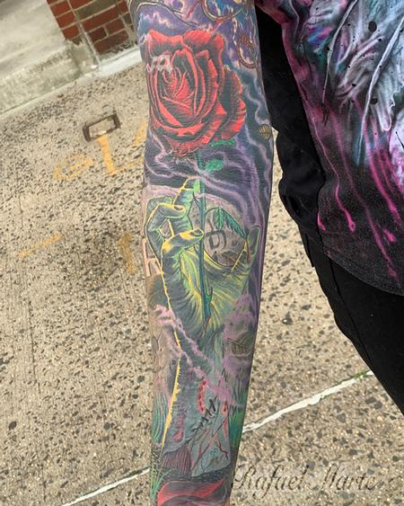 Rafael Marte - Zombie Hand Reaching out  from the Grave Full Color Sleeve