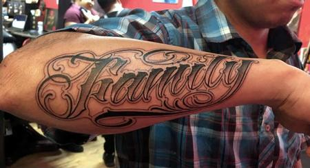 Manny Almonte - Name Tattoo
