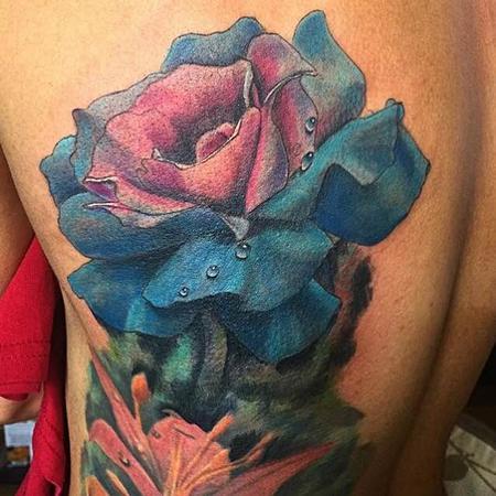 Joe Meiers  - blue & pink rose