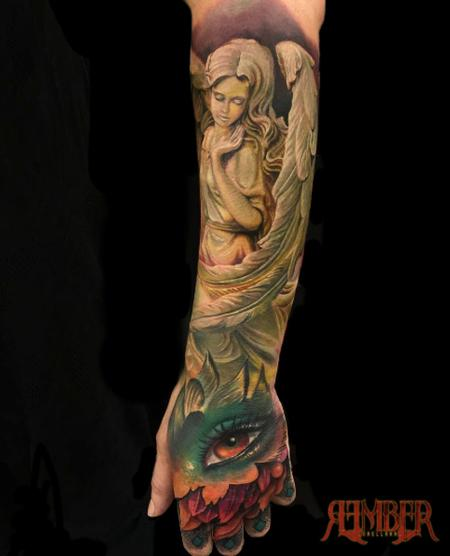 Tattoos - Color hand and forearm Quarter sleeve - 115767