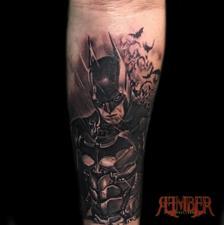 Tattoos - Batman in Black and Grey - 115654