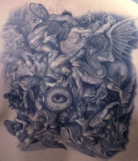 Tattoos - Angels fighting demons - 71923