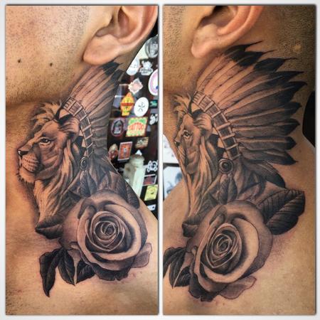 Tattoos - Lion with Headdress - 104741