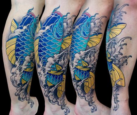 Tattoos - Azul Koi - 120491