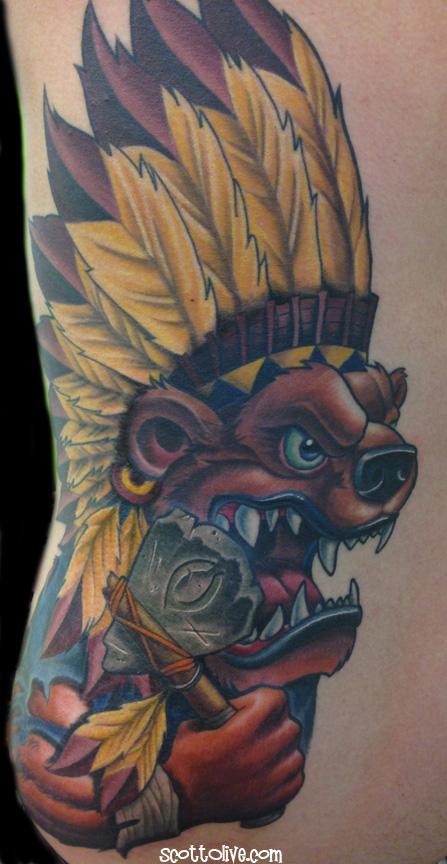 Tattoos - Florida State Bear - 91688