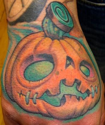 Tattoos - Pumkin Hand - 44299