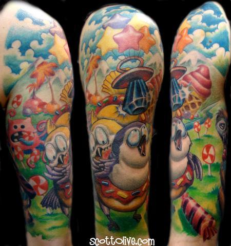 Tattoos - Sugar Birdies - 70897