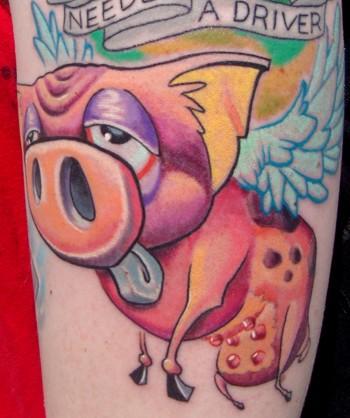 Tattoos - Flying Pig - 44301