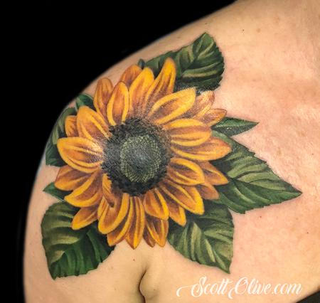 Tattoos - Sunflower Coverup - 138397