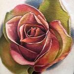 Tattoos - Color Realism Rose - 123327