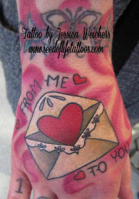 Tattoos - Love Letter hand - 90064