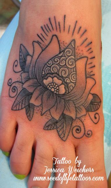 Tattoos - Lotus flower mendi design - 90071