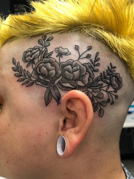 Floral head tattoo  Design Thumbnail