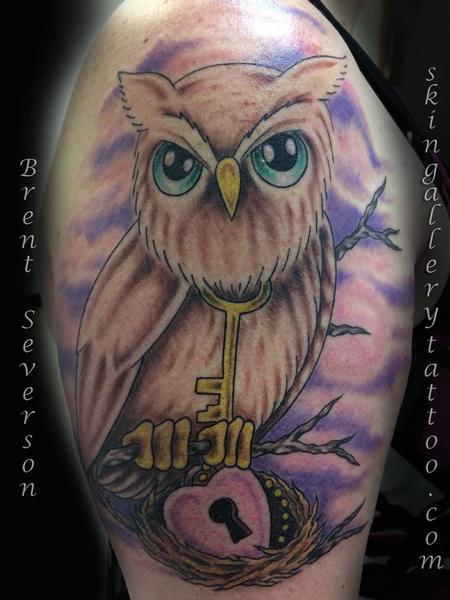 Tattoos - Horned Owl - 101273